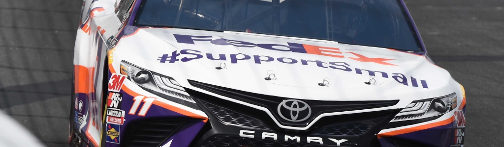 Denny Hamlin drops tungsten weight on track at Charlotte; NASCAR penalty/suspension pending (VIDEO)