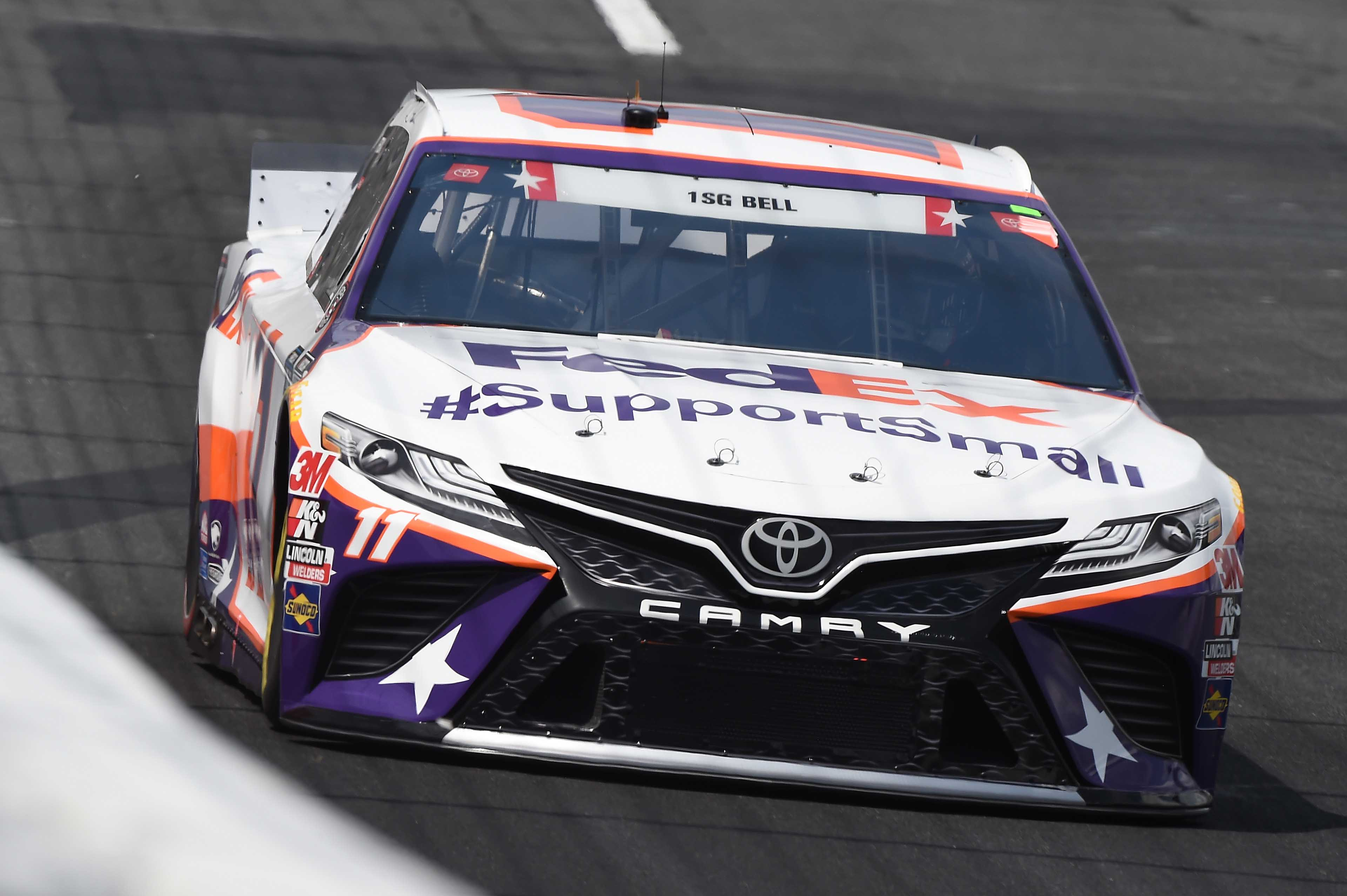Denny Hamlin drops tungsten weight on track at Charlotte; NASCAR suspension likely (VIDEO) - Racing News