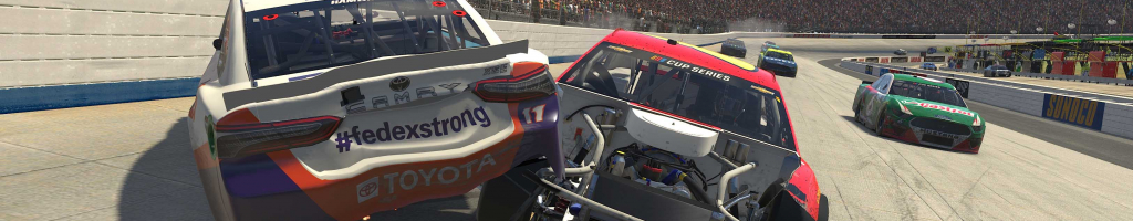 Denny Hamlin vs John Hunter Nemechek at Dover International Speedway (Video)