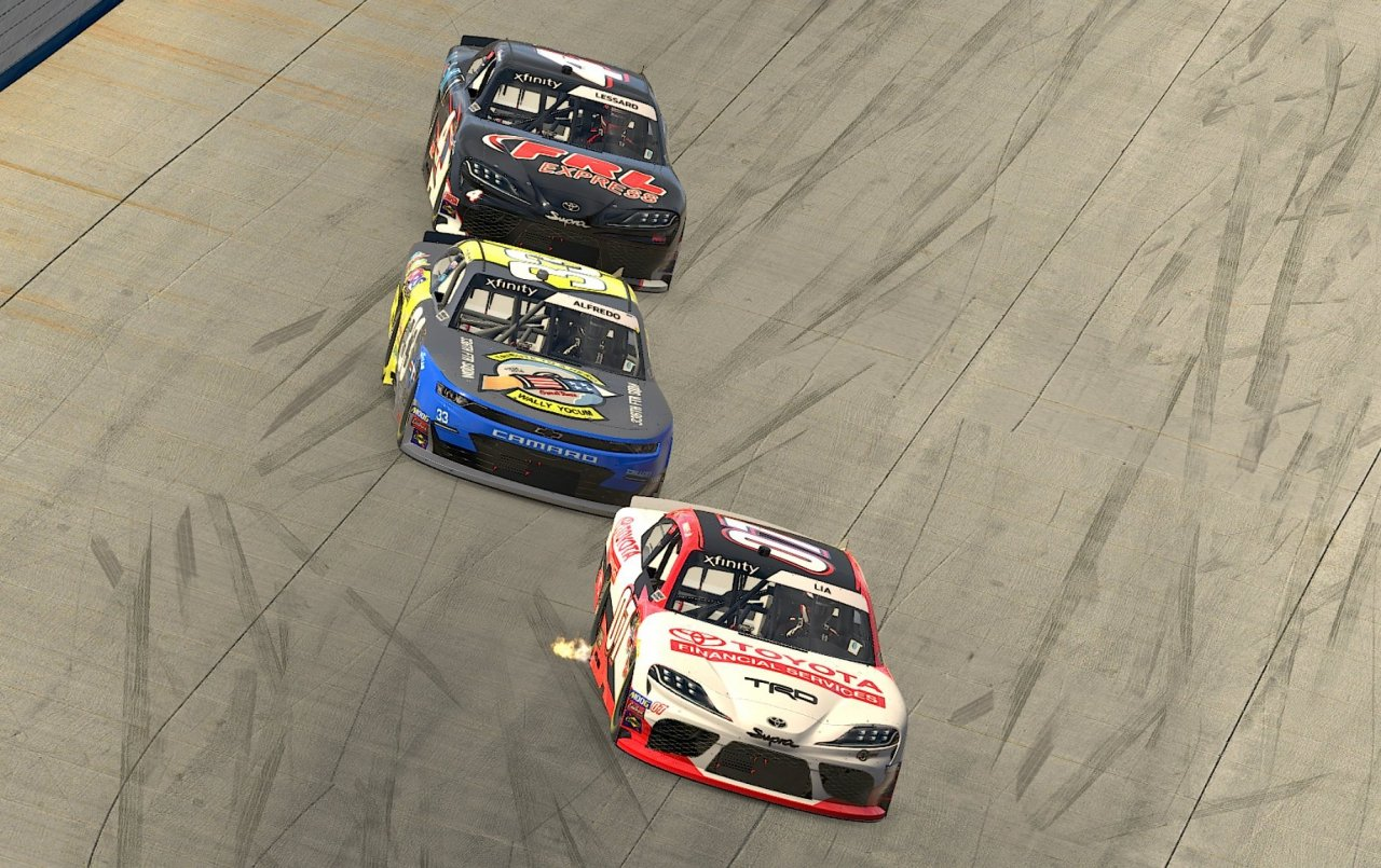 Donny Lia, Anthony Alfredo and Raphael Lessard - Saturday Night Thunder - Dover International Speedway