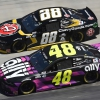 Jimmie Johnson and Alex Bowman at Bristol Motor Speedway - NASCAR Cup Series