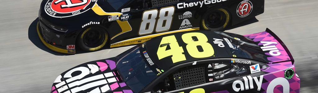 Chevrolet advantage with the new NASCAR rules package? Denny Hamlin says yes; Jimmie Johnson says they're now on par