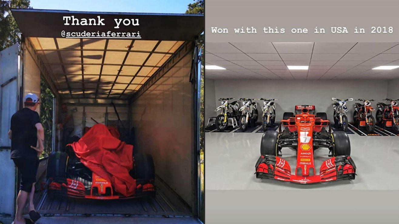 Kimi Raikkonen has been sent a F1 car - Ferrari