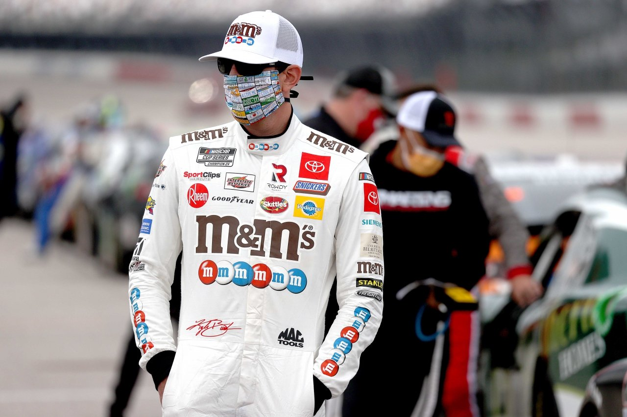 Kyle Busch - NASCAR driver in face mask