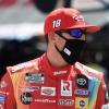 Kyle Busch in a mask at Bristol Motor Speedway - NASCAR Cup Series