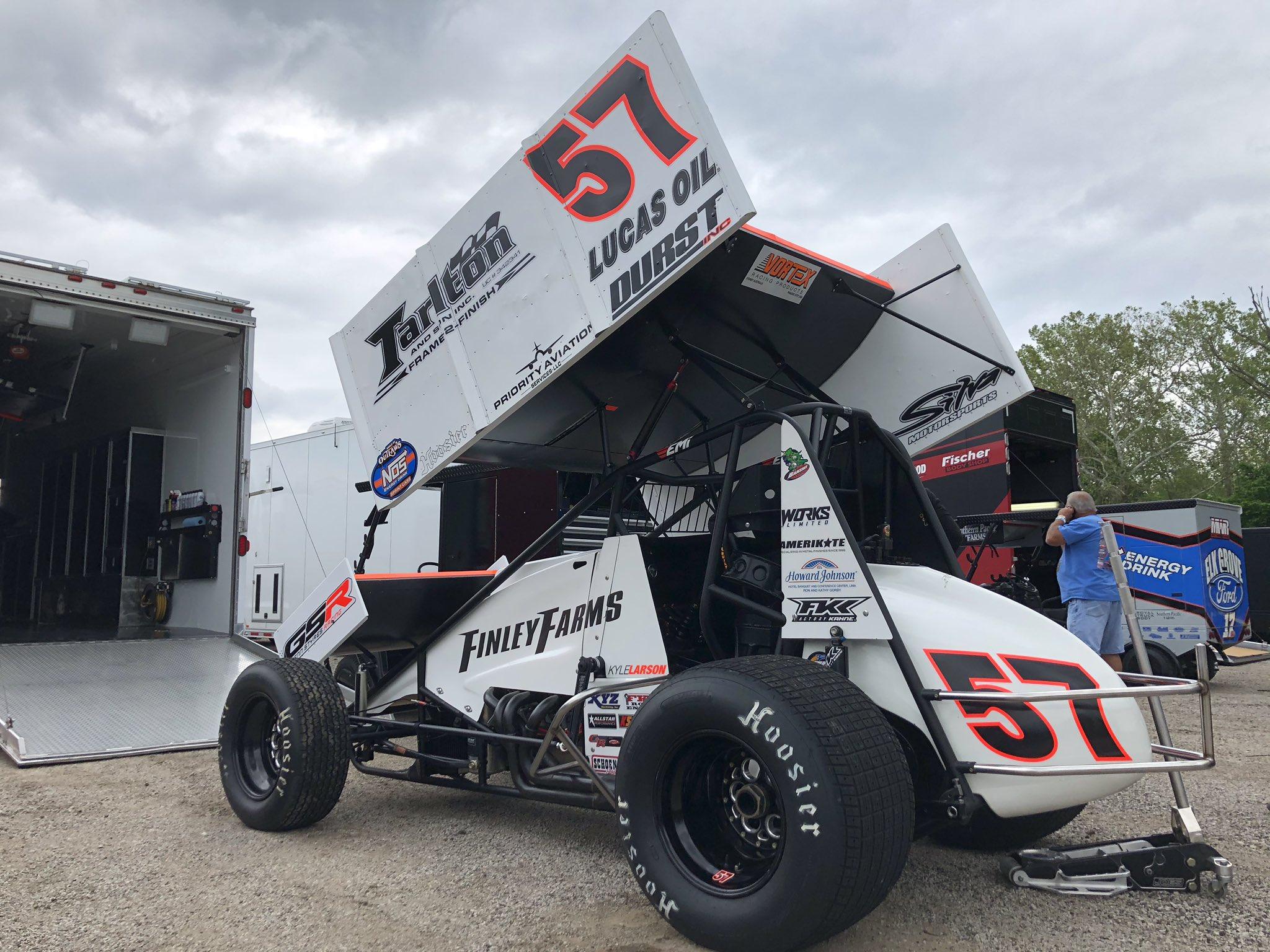 Kyle Larson on Federated Auto Park Raceway - I-55 Raceway