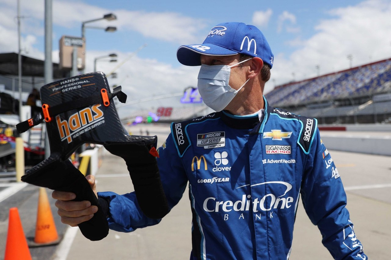 Matt Kenseth in a mask - NASCAR driver