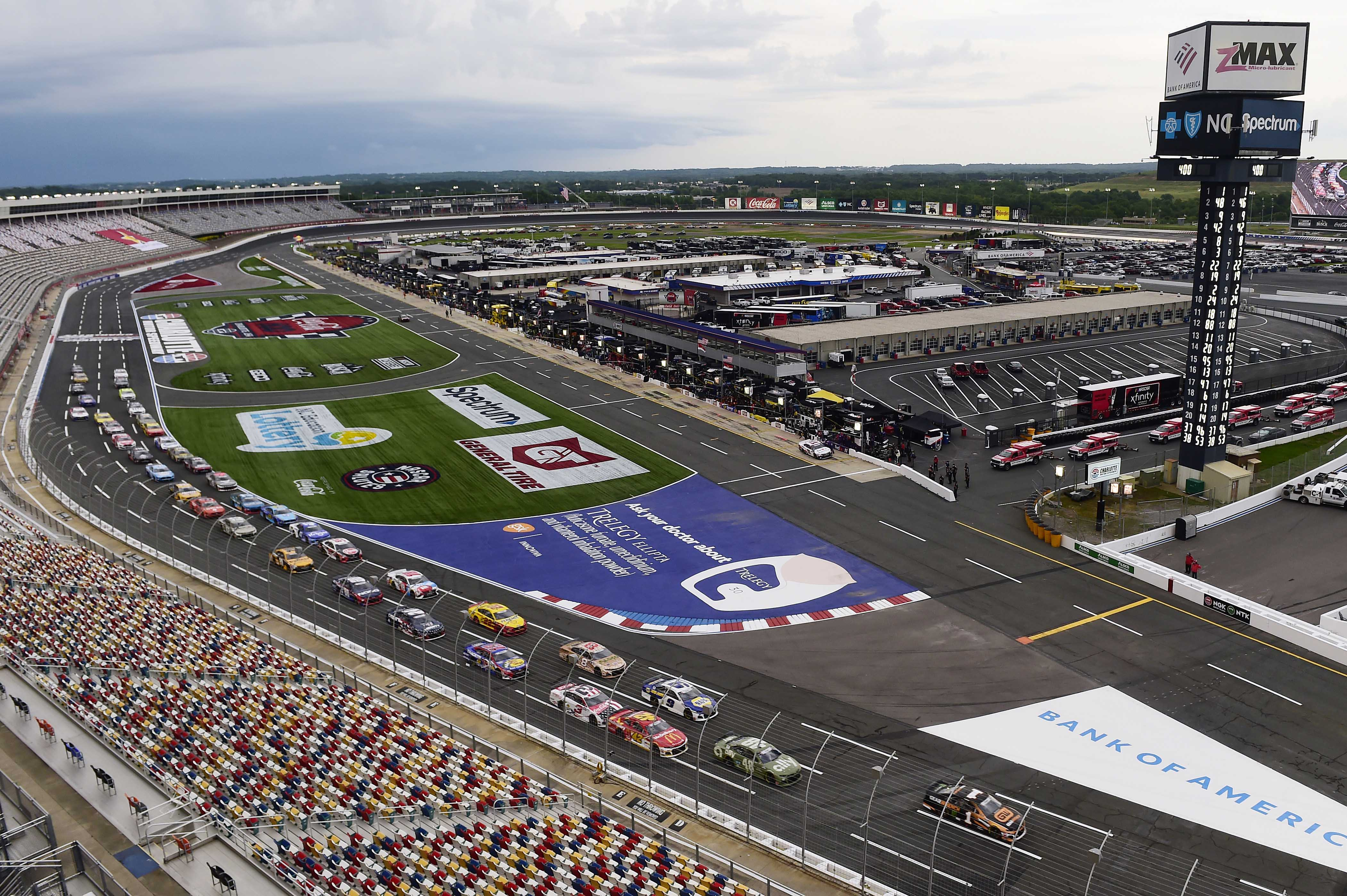 NASCAR Cup Series without fans in the grandstands at Charlotte Motor Speedway - Coca-Cola 600