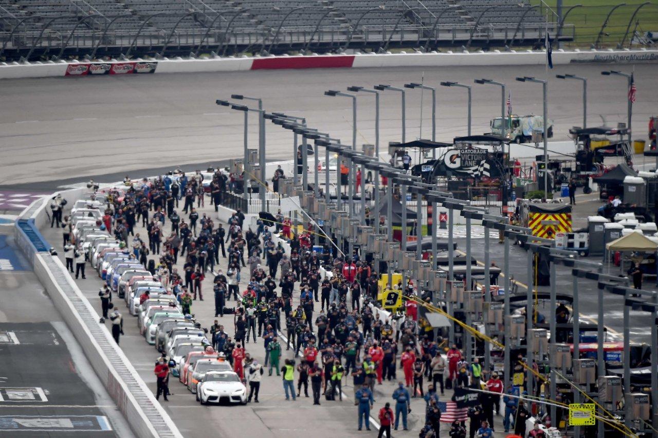 NASCAR Xfinity Series - Pit lane lineup at Darlington Raceway