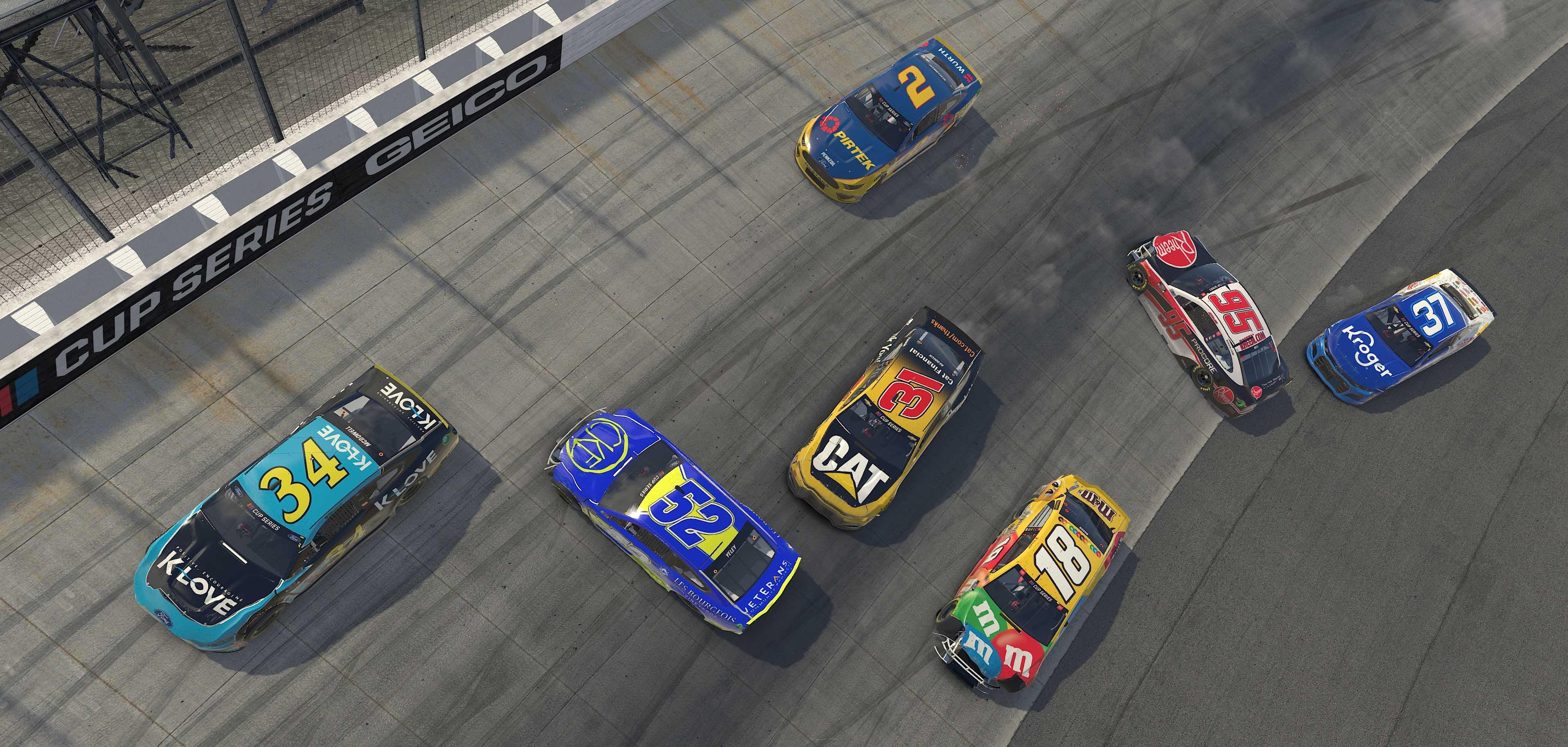 NASCAR crash at Dover International Speedway