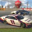 Ross Chastain turns Denny Hamlin - North Wilkesboro Speedway - eNASCAR Pro Series