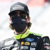 Ryan Blaney in a mask at Bristol Motor Speedway - NASCAR Cup Series