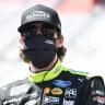 Ryan Blaney in a mask at Bristol Motor Speedway - NASCAR Cup Series