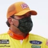Ryan Newman in a mask - NASCAR driver