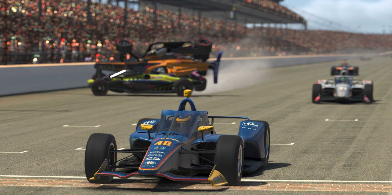 Scott McLaughlin wins at Indianapolis Motor Speedway - INDYCAR iRacing