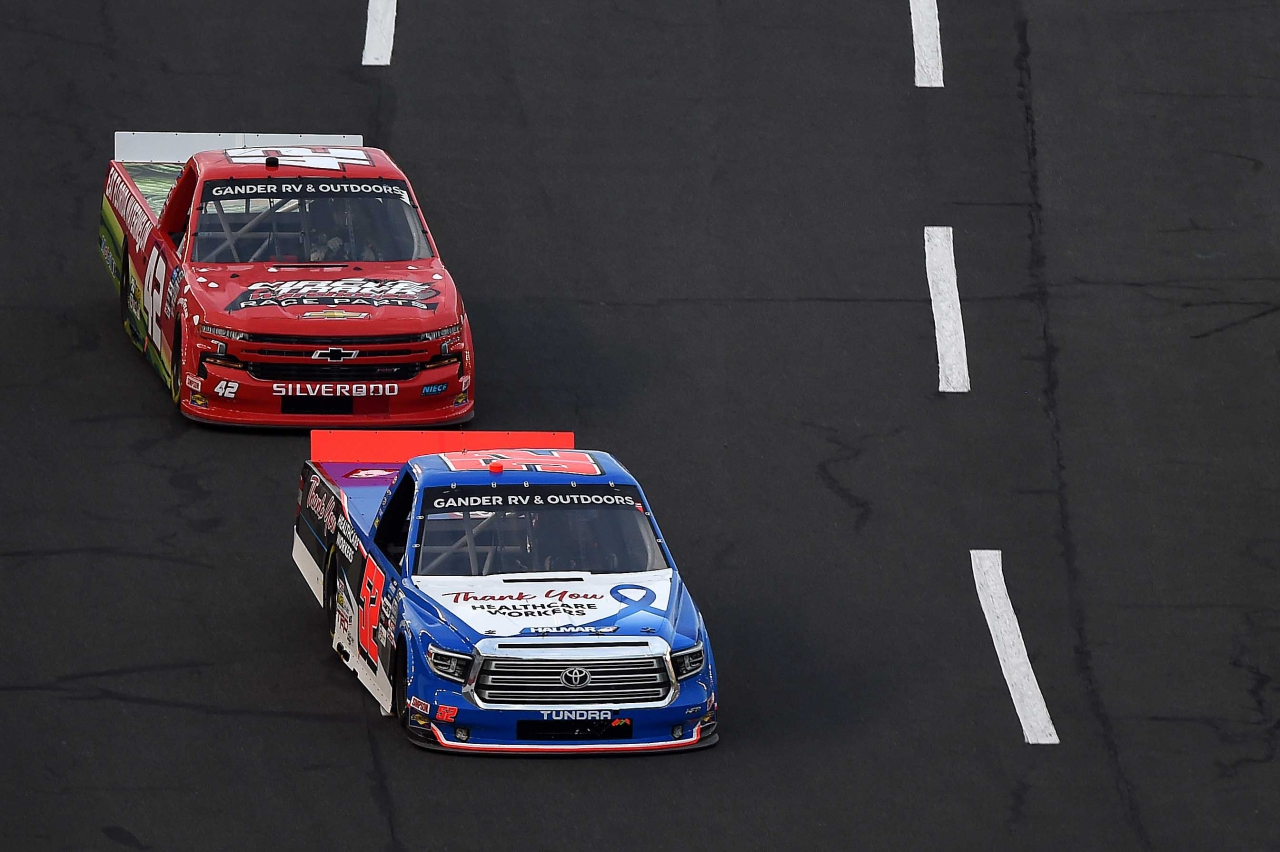 Stewart Friesen and Ross Chastain - NASCAR Truck Series at Charlotte Motor Speedway