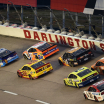 Ty Dillon, Ryan Preece, Joey Logano, Clint Bowyer, Ryan Blaney, Ryan Newman and Matt DiBenedetto at Darlington Raceway - NASCAR