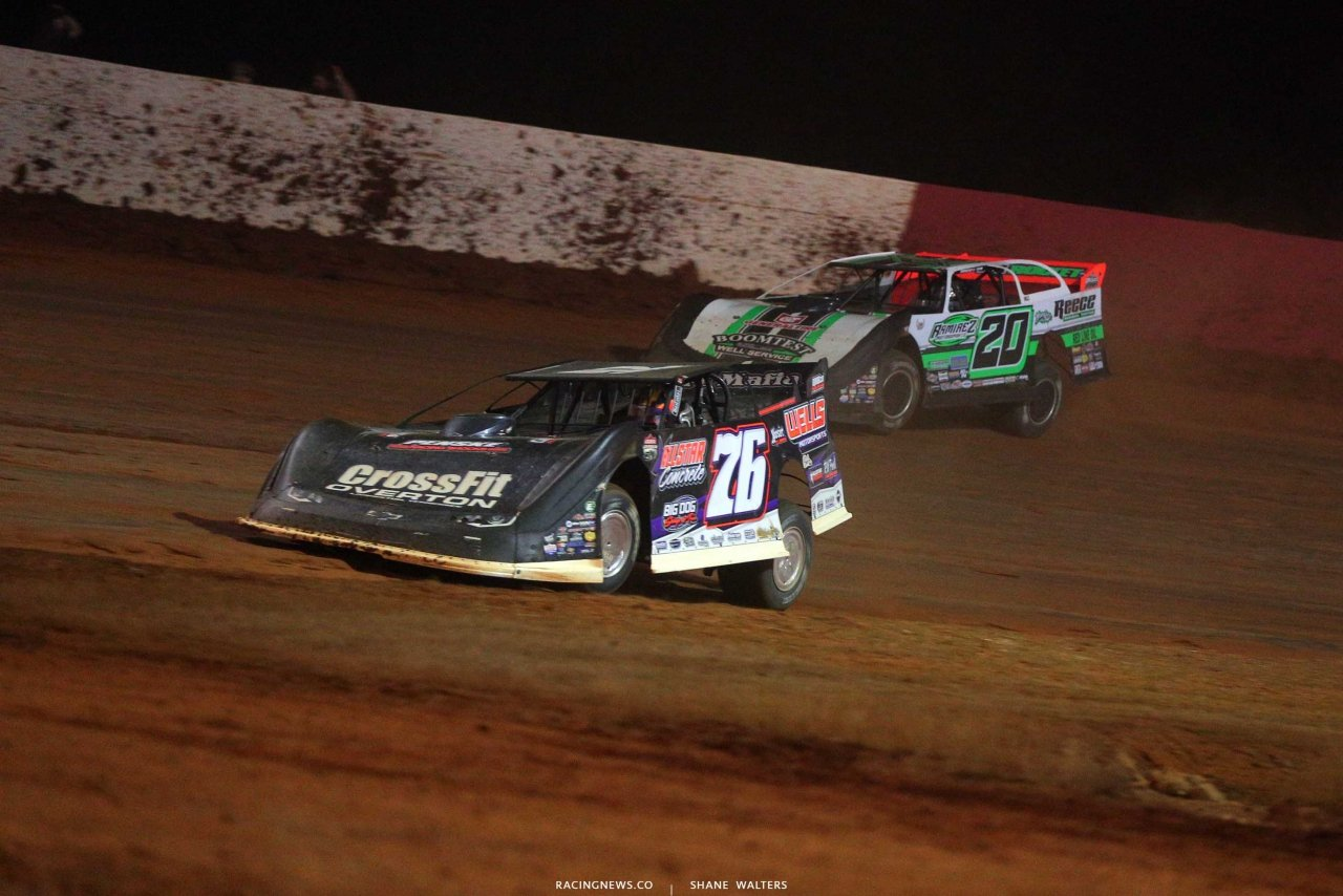 Brandon Overton and Jimmy Owens at Smoky Mountain Speedway - Lucas Oil Late Model Dirt Series6085
