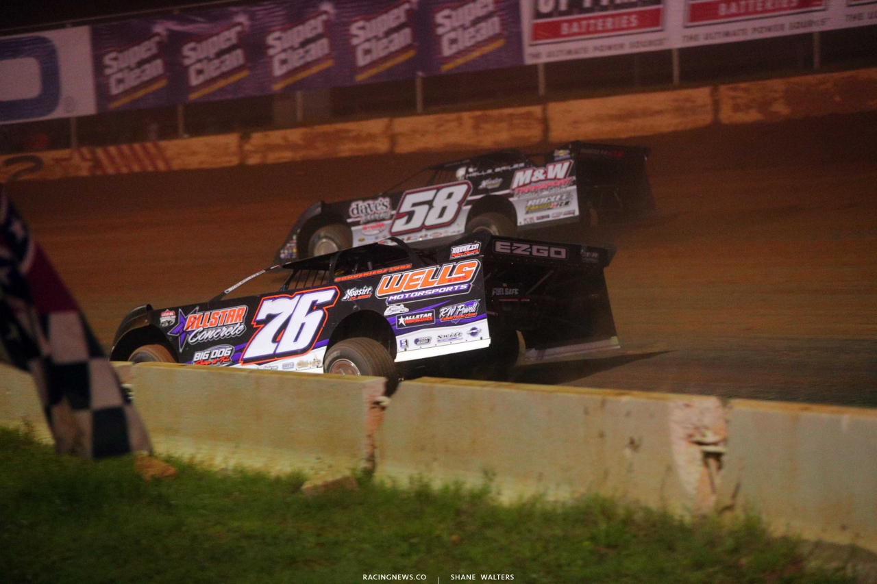 Brandon Overton and Ross Bailes at Cherokee Speedway - Lucas Oil Late Model Dirt Series 5697