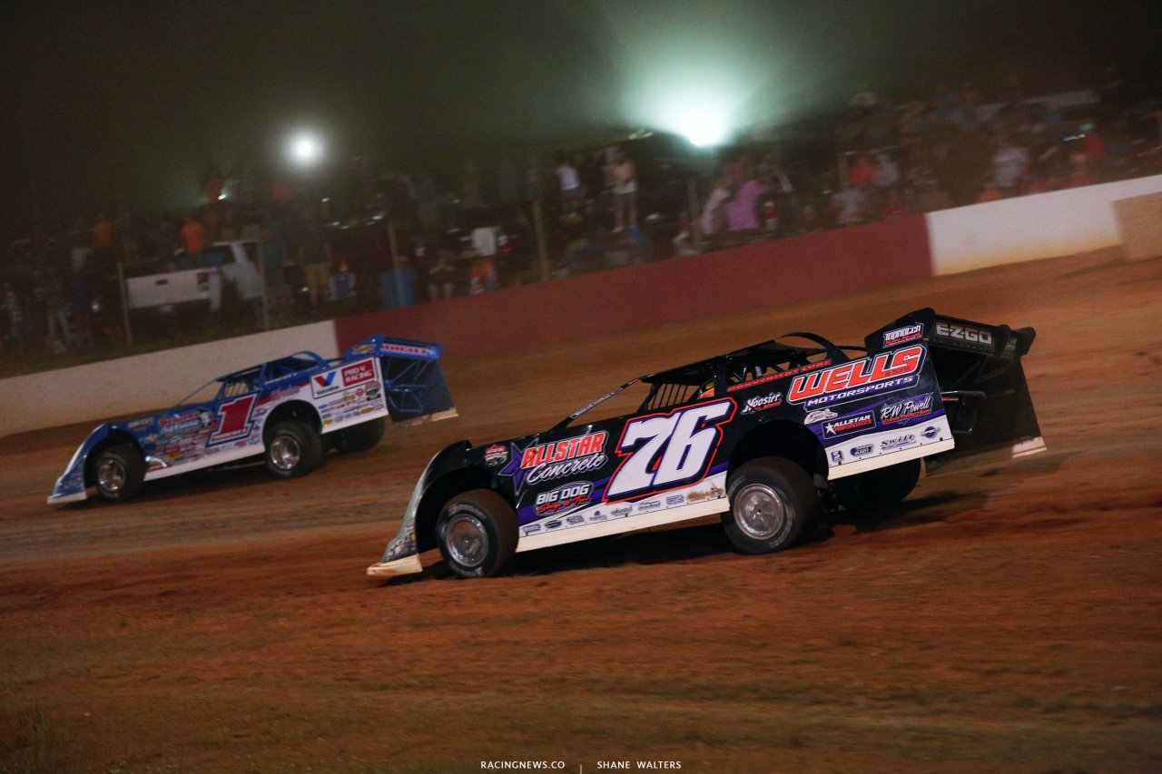 Brandon Sheppard and Brandon Overton at Smoky Mountain Speedway - Lucas Oil Late Models 6043
