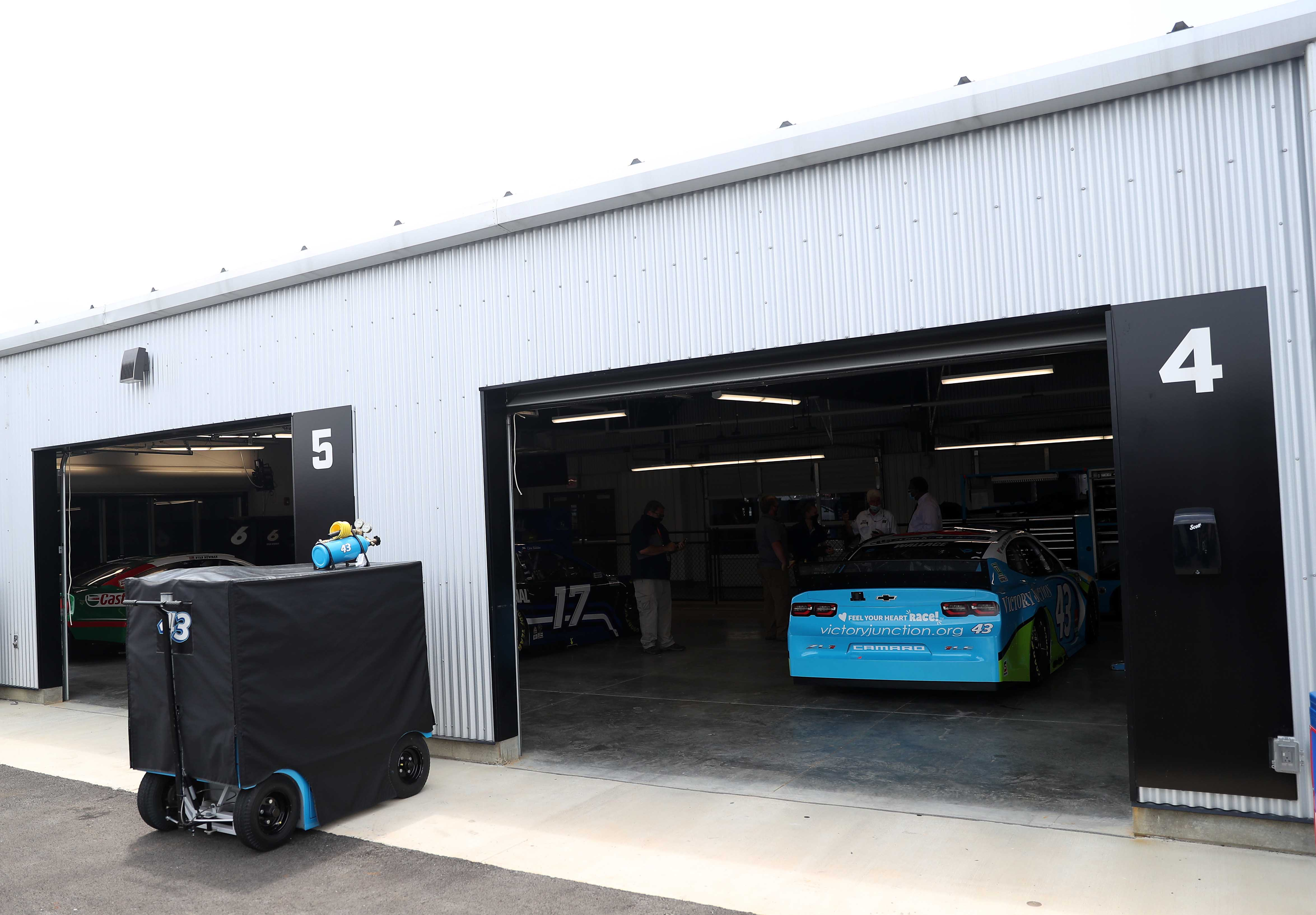 Bubba Wallace - NASCAR garage area at Talladega Superspeedway - NASCAR Cup Series