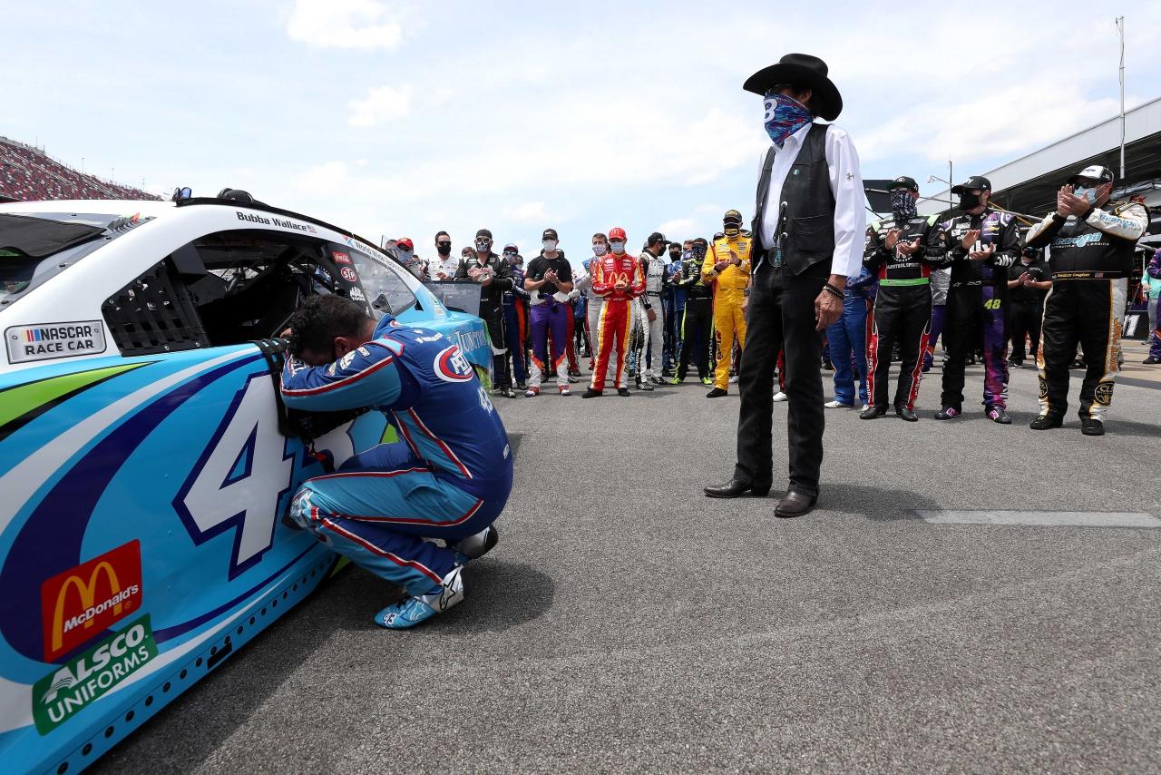 Bubba Wallace and Richard Petty at Talladega Superspeedway - NASCAR