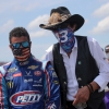 Bubba Wallace and Richard Petty at Talladega Superspeedway - NASCAR Cup Series