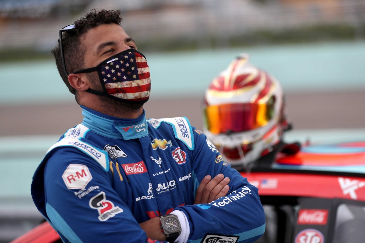 Bubba Wallace at Homestead-Miami Speedway