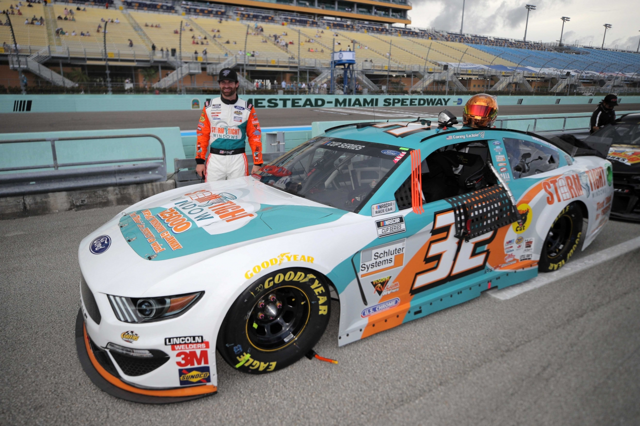 Corey LaJoie at Homestead-Miami Speedway - NASCAR Cup Series