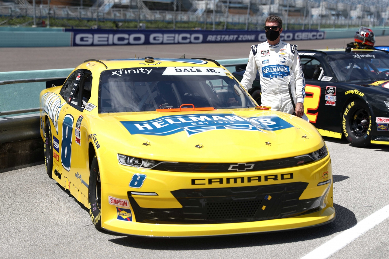 Dale Earnhardt Jr at Homestead-Miami Speedway in the NASCAR Xfinity Series