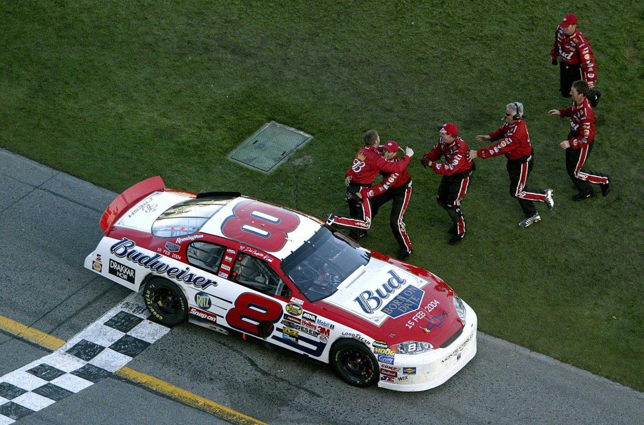 Dale Earnhardt Jr wins the Daytona 500