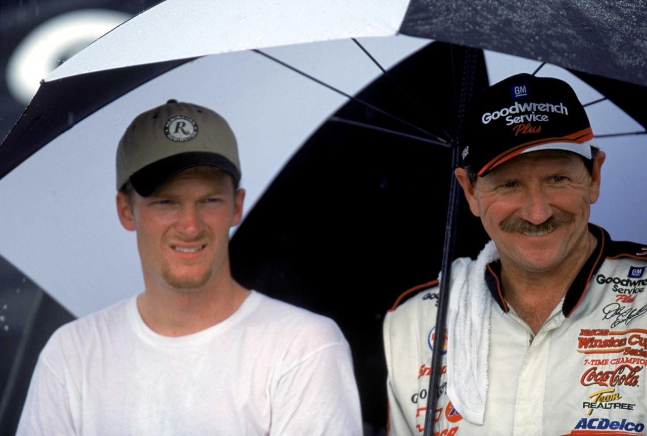 Dale Earnhardt and son Dale Earnhardt Jr