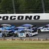 Daniel Suarez, Ryan Preece, Matt Kenseth, Corey LaJoie and Ty Dillon at Pocono Raceway - NASCAR Cup Series