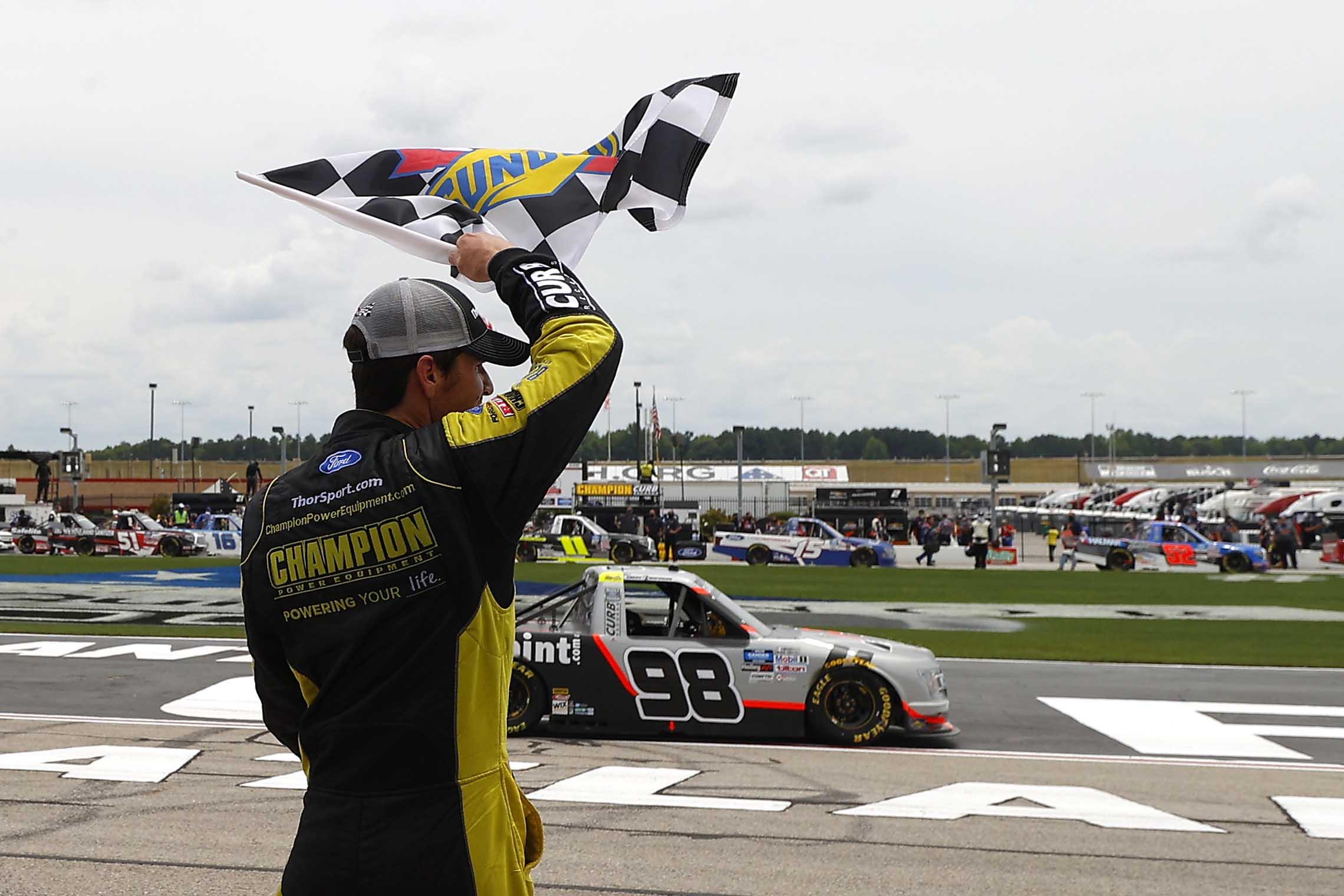 Grant Enfinger wins at Atlanta Motor Speedway - NASCAR Trucks