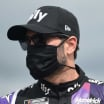 Jimmie Johnson in a mask - NASCAR driver