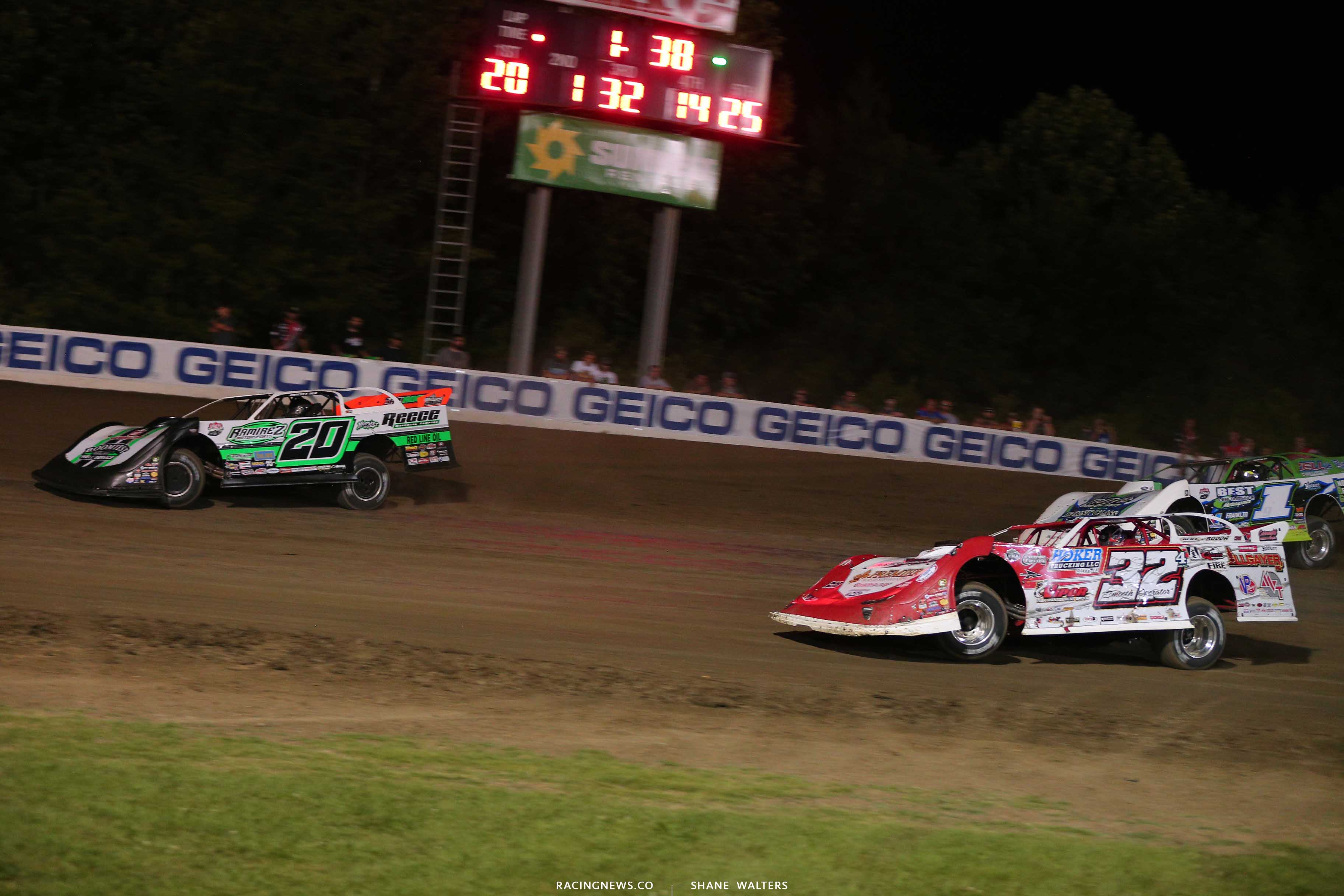 Jimmy Owens, Bobby Pierce and Tyler Erb at Magnolia Motor Speedway - Lucas Series 7055