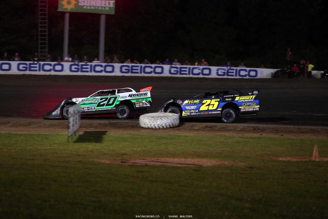 Jimmy Owens and Shane Clanton at Magnolia Motor Speedway - LOLMDS 7226