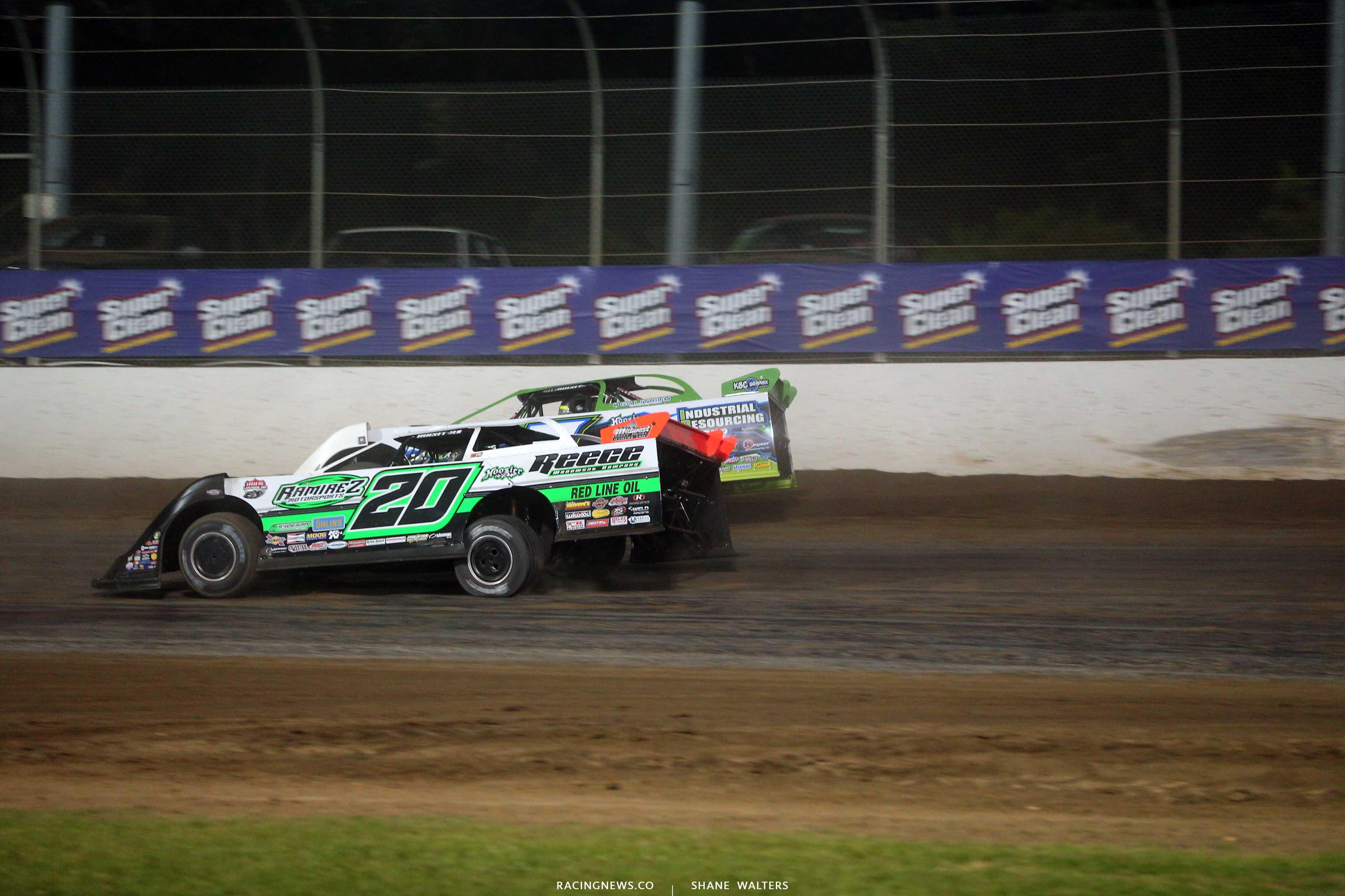 Jimmy Owens and Tyler Erb at Magnolia Motor Speedway - Lucas Series 7080