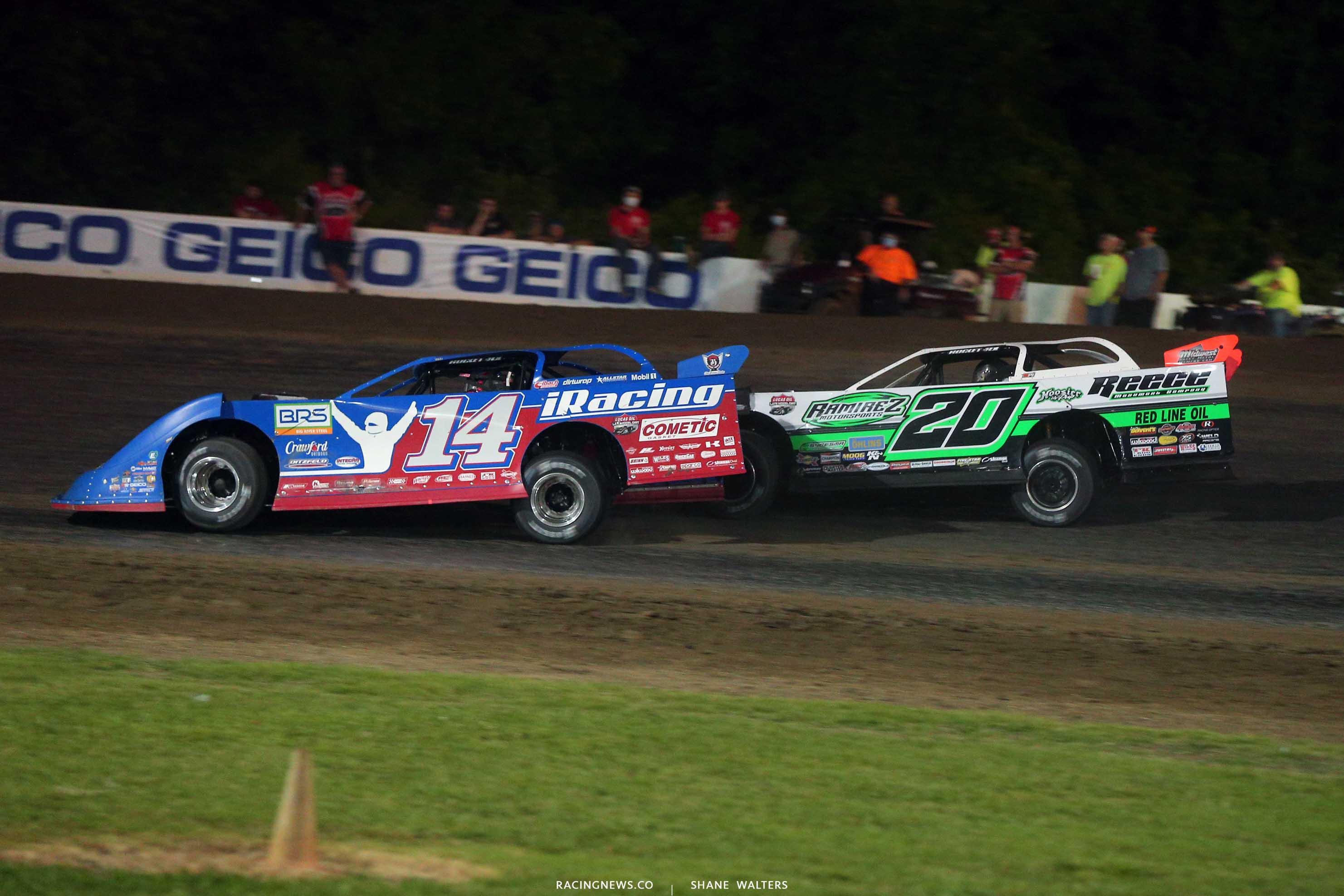 Josh Richards and Jimmy Owens - Magnolia Motor Speedway - Lucas Dirt 6950