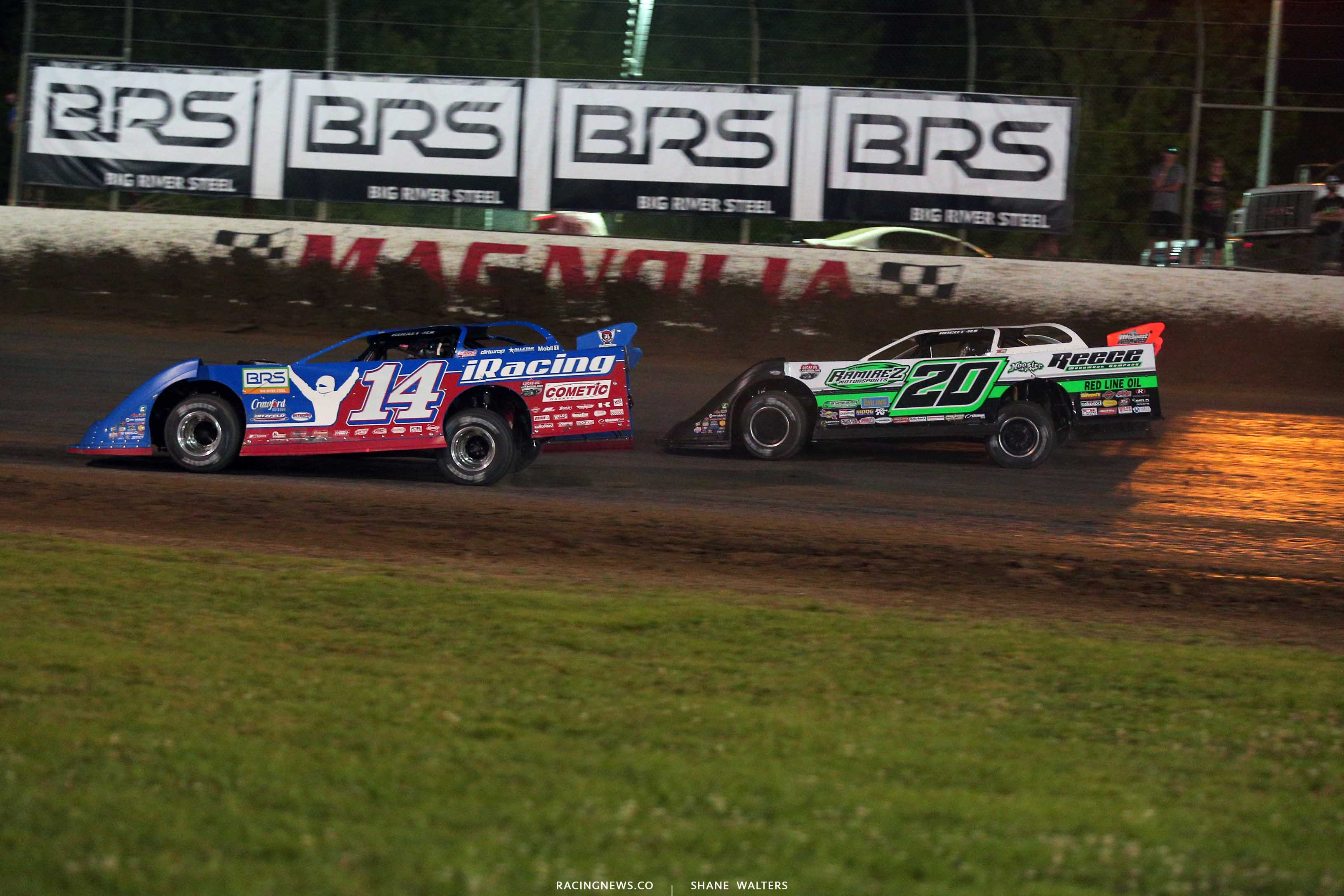 Josh Richards and Jimmy Owens at Magnolia Motor Speedway - Clash at The Mag 6902