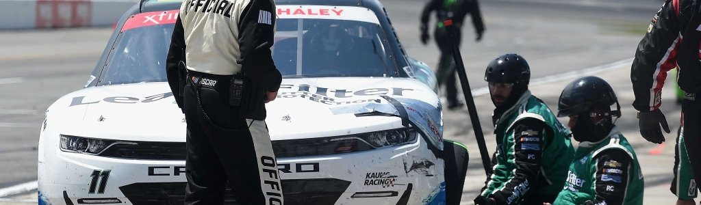 Justin Haley was penalized by NASCAR for aggressive driving after he cost Riley Herbst a chance at $100,000 (Video)