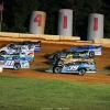Lucas Oil Late Model Dirt Series four wide at 411 Motor Speedway 7340