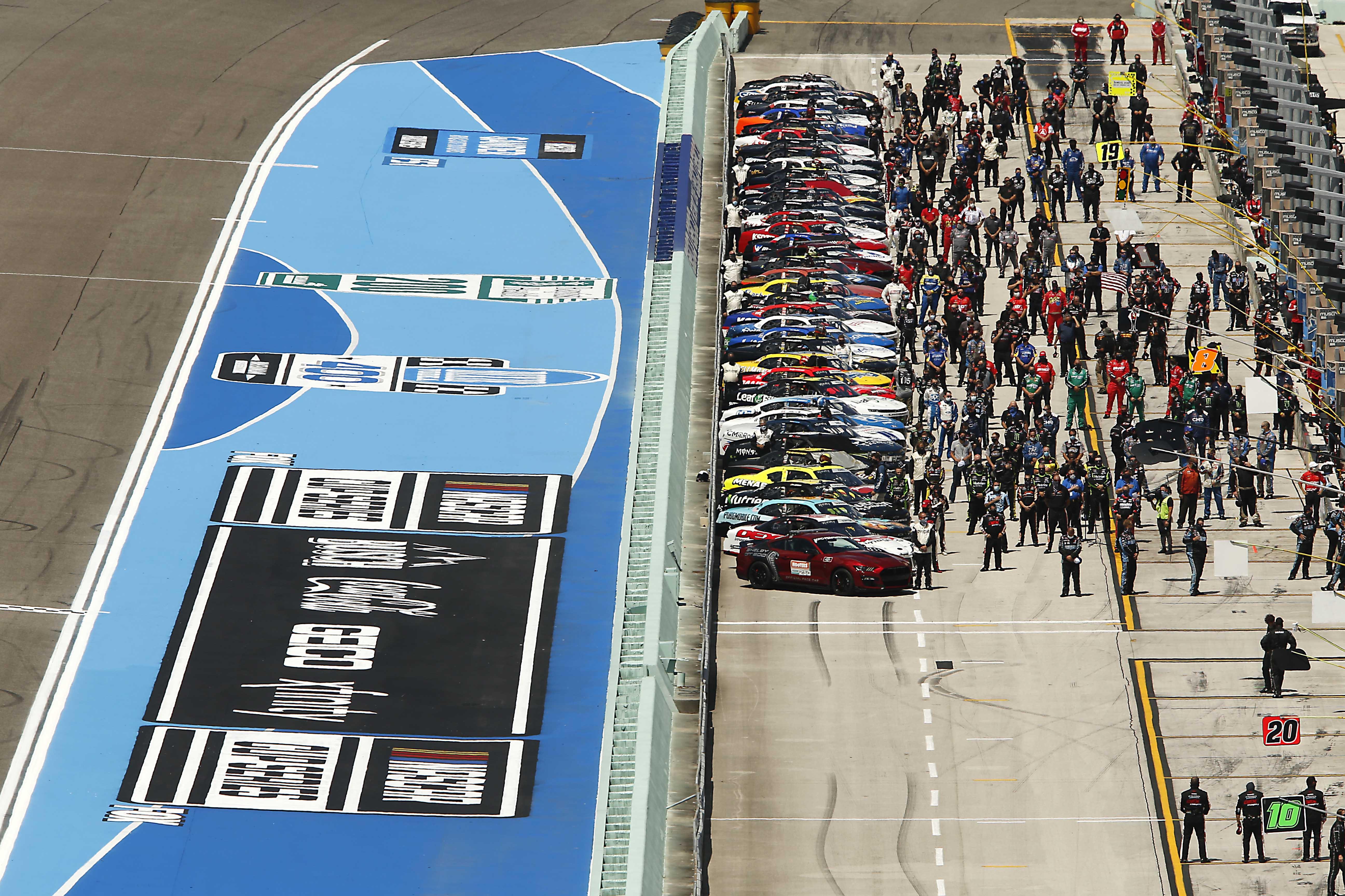 NASCAR Xfinity Series grid at Homestead-Miami Speedway