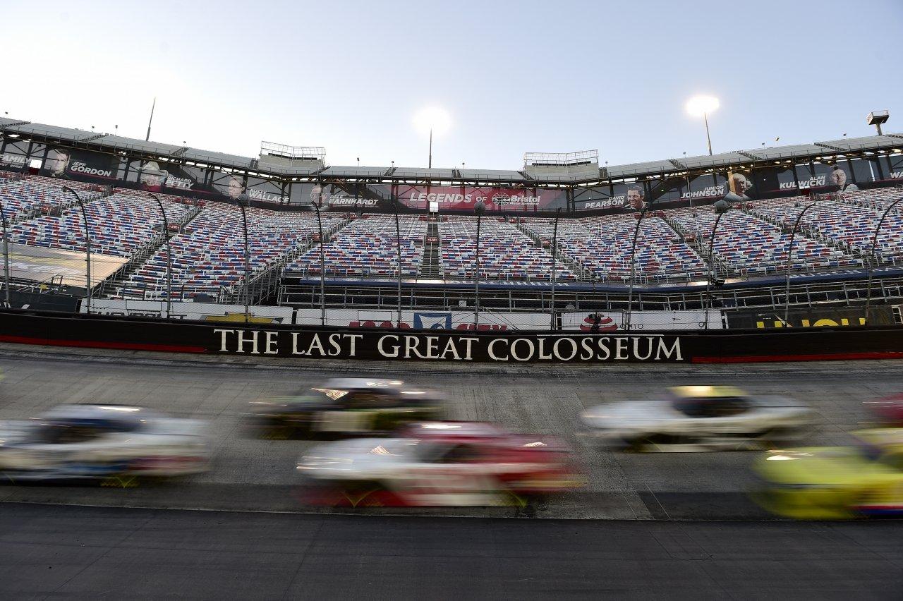 NASCAR Xfinity Series motion blur at Bristol Motor Speedway