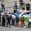 NASCAR drivers surround Bubba Wallace ahead of Talladega Superspeedway