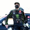 Riley Herbst in a mask at Bristol Motor Speedway - NASCAR Xfinity Series