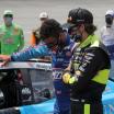 Ryan Blaney and Bubba Wallace at Talladega Superspeedway - NASCAR Cup Series