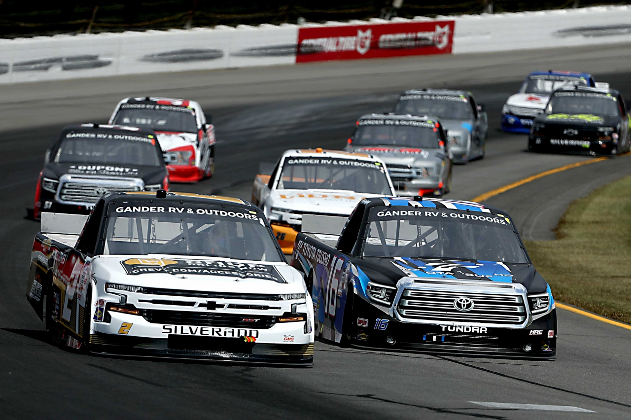 Sheldon Creed and Austin Hill at Pocono Raceway - NASCAR Truck Series