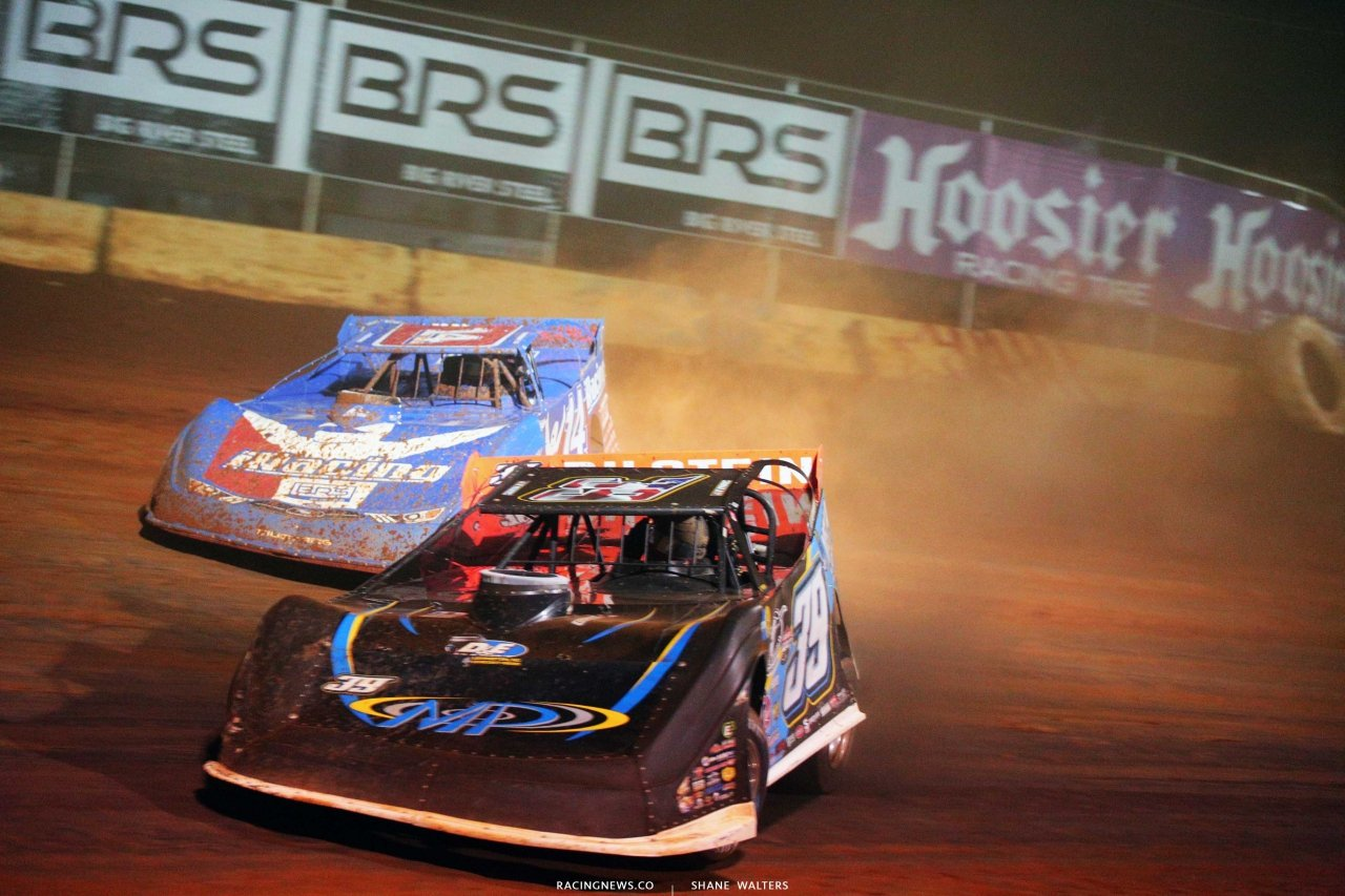 Tim McCreadie and Josh Richards at Cherokee Speedway - Lucas Oil Late Models 5671