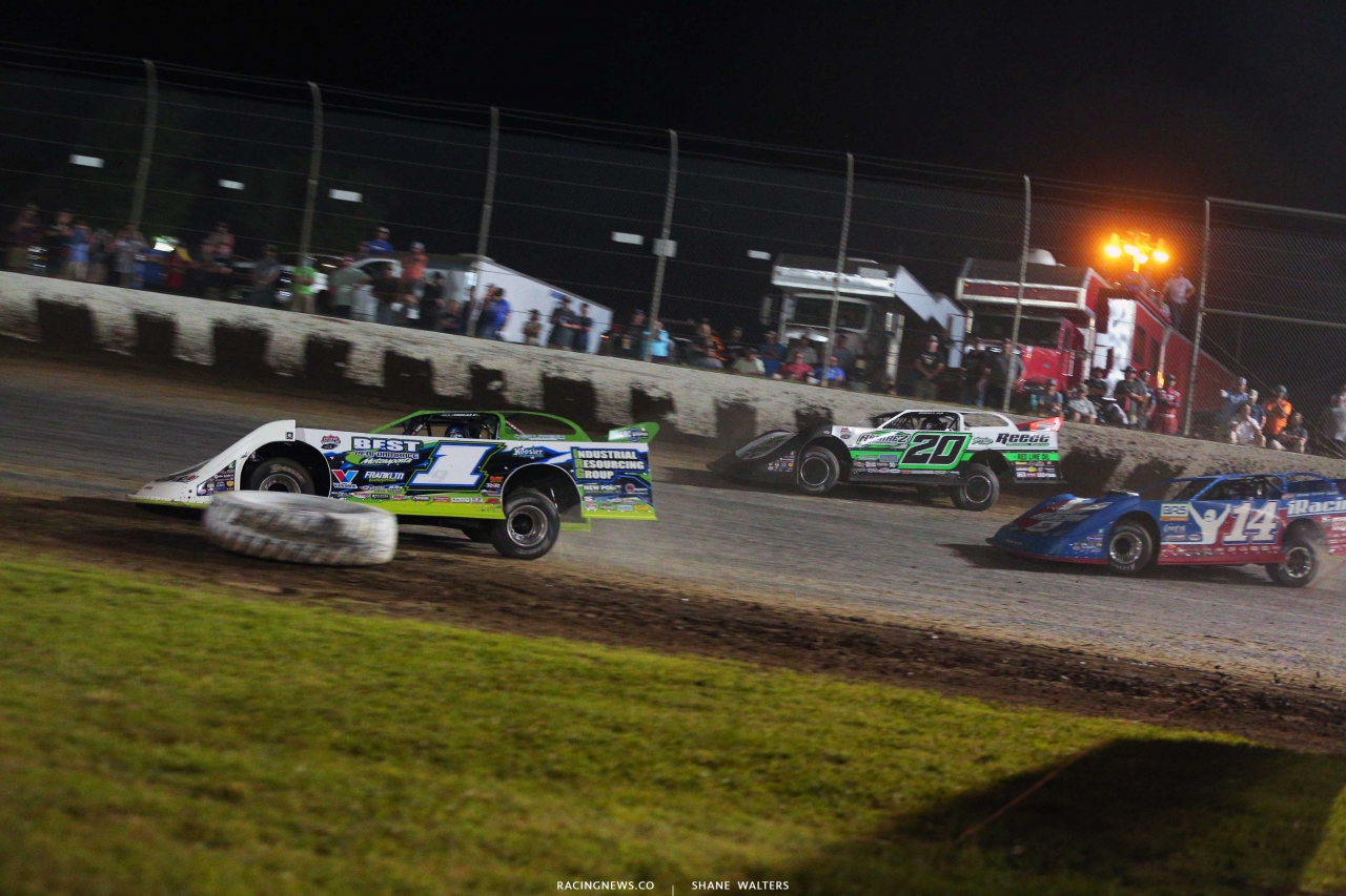 Tyler Erb, Jimmy Owens and Josh Richards - Magnolia Motor Speedway - Lucas Oil Late Model Dirt Series 6874